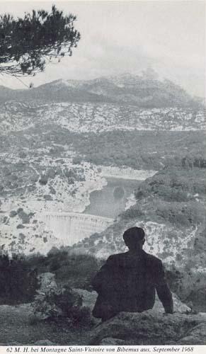 Heidegger contemplant la montagne Sainte Victoire