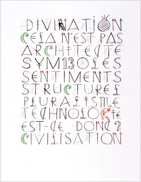 Jacques Villeglé, Divination