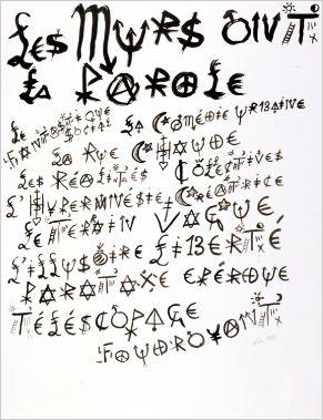 Jacques Villeglé, Les murs ont la parole