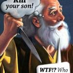 Abraham, manquant de tuer son fils Isaac