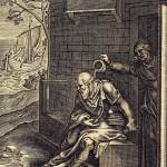 Xanthippe vidant le pot de chambre sur la tête de Socrate